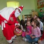 Mikołaj na świetlicy szkolnej